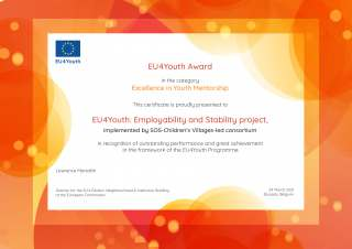 EU4Youth award for Excellence in Youth Mentorship